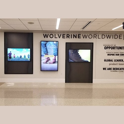 Wolverine World Wide Touchscreen Digital Signage GRR - Grand Rapids Airport